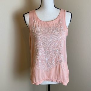 Maurices embroidered sleeveless tank
